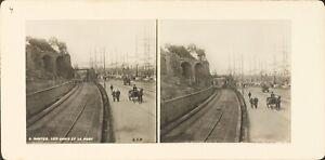FRANCE-Nantes-Les-Quais-et-Le-Port-Photo-Stereo-Vintage-Argentique-PL62L11
