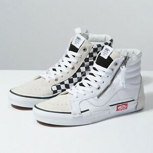 a691fc5eb42 Vans SK8 HI CAP Cut and Paste LX Reissue White Checkerboard size 3.5 ...