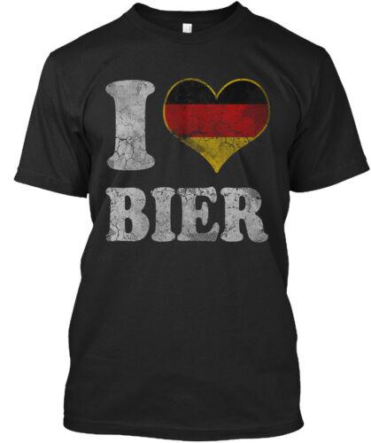 Cool Oktoberfest I Love Bier German Beer Standard Standard Unisex T-shirt