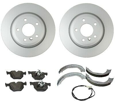 Front Rear Discs Brake Rotors and Ceramic Pads For 2006 BMW 330i E90 Drill Slot