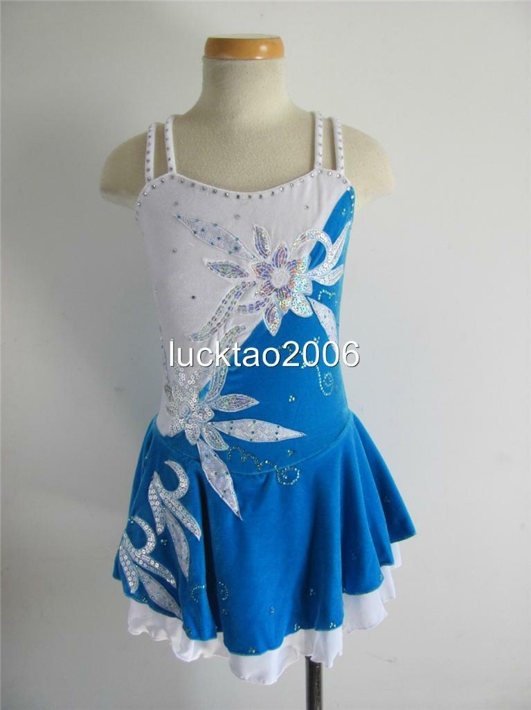 2018 new style  Figure Skating Dress Ice Skating competition Dress 6714-3 size 12  with 60% off discount