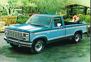 1980 ford pickup truck brochure   catalog f