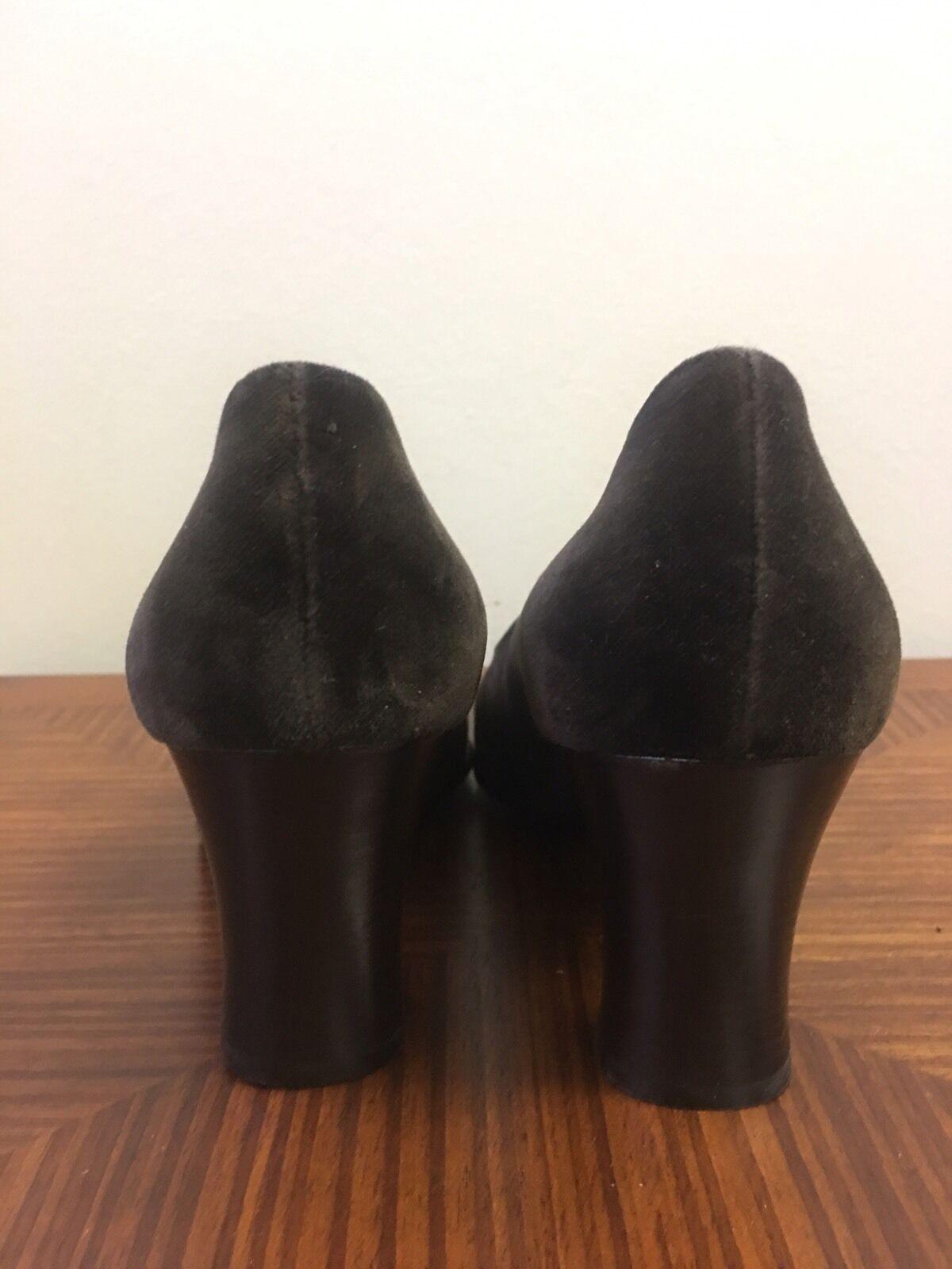 Franco Fieramosca Chocolate Brown Velvet Classic Pumps Heels-    Sz 8M bd14b3
