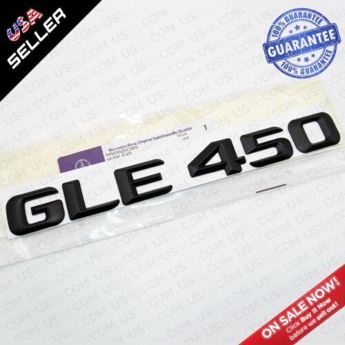 New ABS GLE 450 Emblem Trunk Lid Logo Nameplate Badge Decoration AMG Matte Black