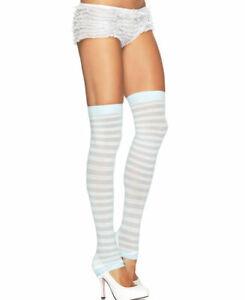 Blue-White-Stripe-Footless-Stockings-Leg-Avenue-3908-Legwarmers