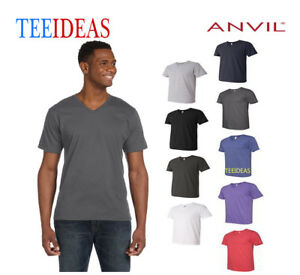 a278a33fdc7 Image is loading Anvil-Adult-Lightweight-V-Neck-T-Shirt-982