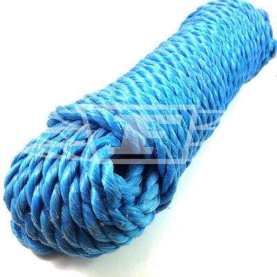 Polyrope Polypropylene Boats Tarpaulins Dashing 8mm X 10 Meters Blue Poly Rope Hanks