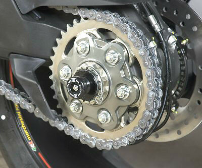 R/&G Racing Rear Wheel Spindle Sliders Protectors to fit Ducati 1198 S