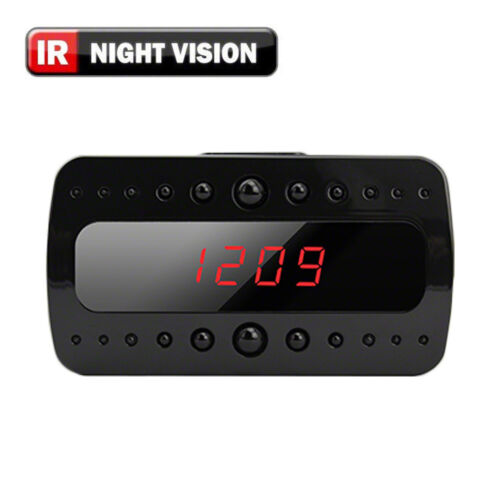 SpygearGadgets 1080P HD Motion Activated Mini Night Vision Clock Hidden Camera