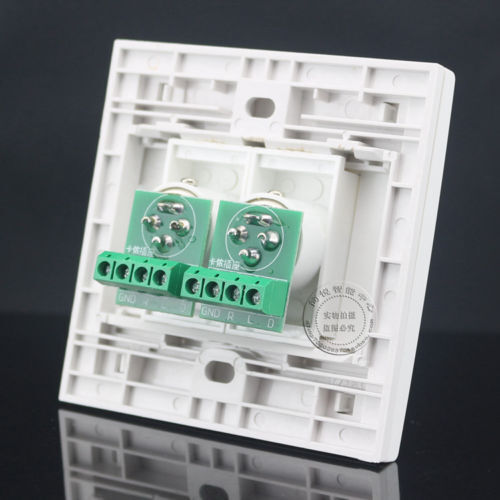 Wall Face Plate 2 XLR Outlet Socket Assorted Panel Faceplate