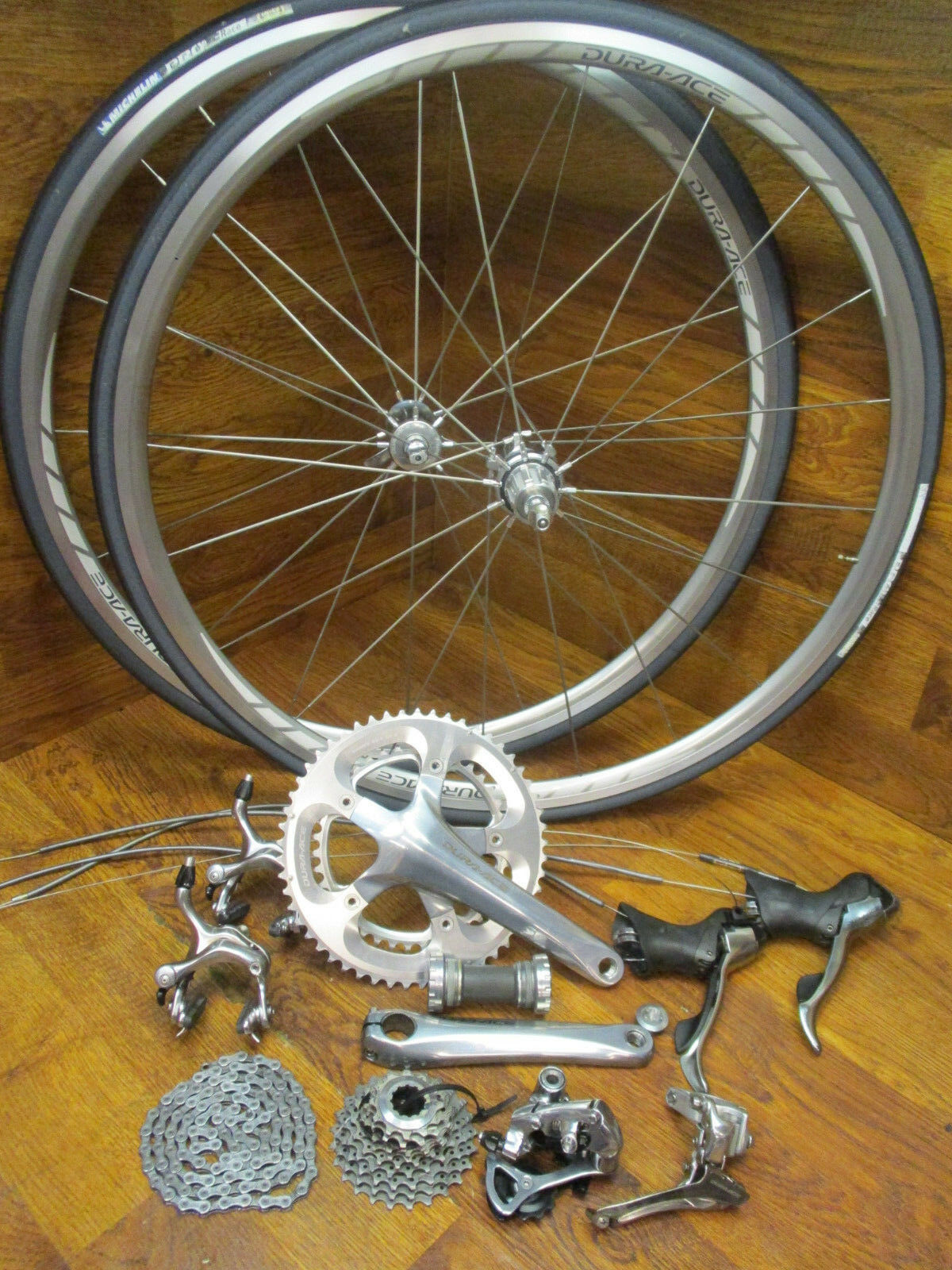 SHIMANO DURA ACE 2x10 SPEED 175L 7800 GROUP GRUPPO COMPLETE BUILD KIT WH-7800