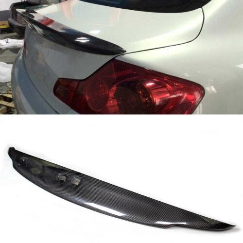Carbon Fiber Rear Trunk Spoiler Wing Factory For Infiniti G37 Sedan 2010-2013