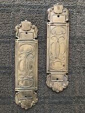 Virginia Metalcrafters Brass Push Plate 24-19 Pair