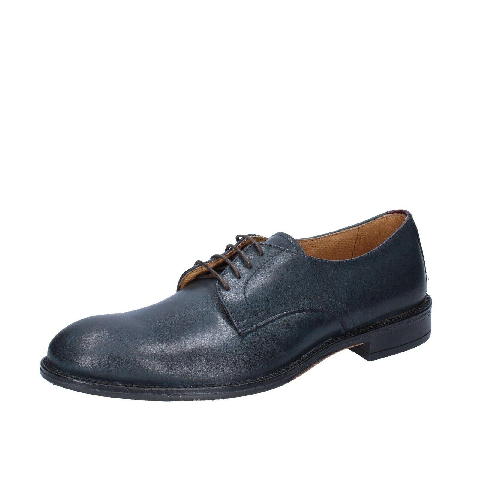Mens shoes CHELSEA CREW 8 () elegant bluee leather BS681-42