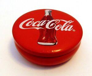 JD955 Coca-Cola Coke Tin Round Container Red Soda Pop Memorabilia Storage