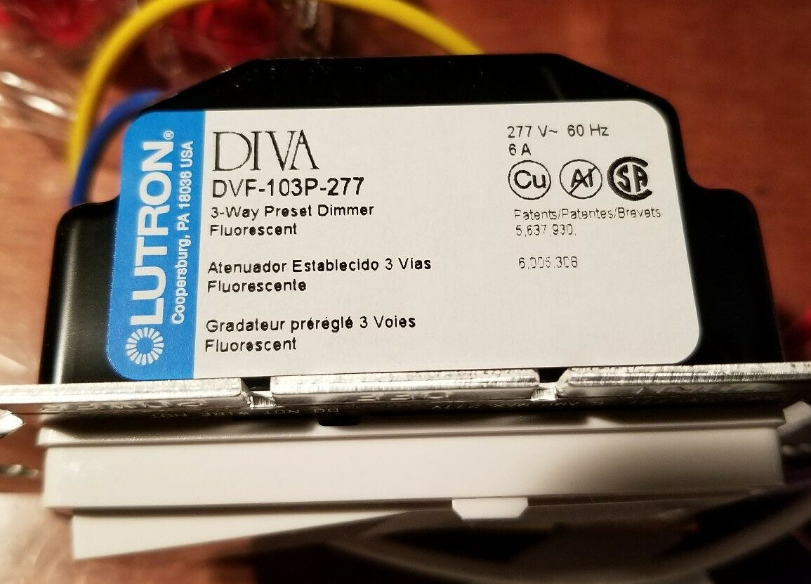 Lutron Dvf 103p 277 Wh Diva Fluorescent Control 277v 3way White Ebay Below Is A Single Pole Dimmer Switch Controlling Flourescent Light Norton Secured Powered By Verisign