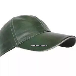 BASEBALL Golf DARK GREEN PEAK LANE Men s Women Soft Leather CLASSIC ... 18d187f178b2