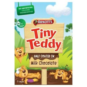 Arnott's Half Coated Chocolate Tiny Teddy Biscuits 200g