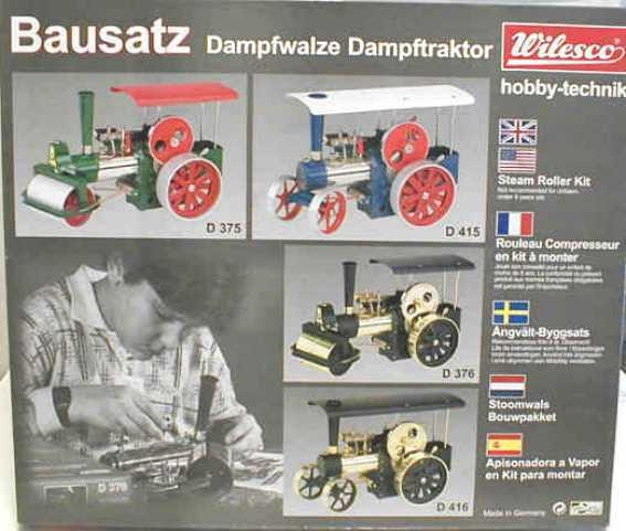 Toys, Hobbies Black Moderate Price Wilesco 0376 Kit Dampfwalze