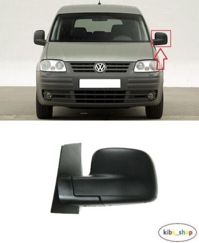 VW CADDY 2004-2018 NEW WING MIRROR CABLE MANUAL BLACK LEFT O//S DRIVER LHD