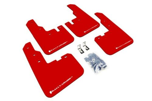 """Rally Armor UR /""""Red Mud Flaps with White Logo/"""" for 2016-2018 Toyota Rav4"""