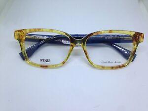 FENDI FF0035 EQT occhiali da vista donna hand made acetate Italy woman glasses Kvnq9I2