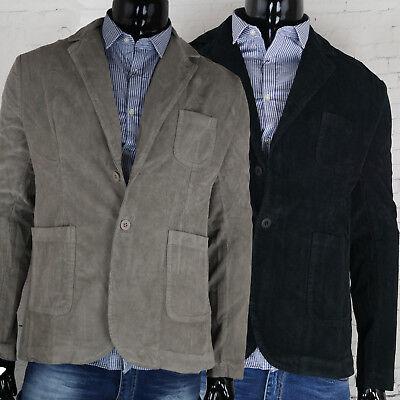 Giacca UOMO Velluto a Coste Casual VINTAGE Tasca retro Beige Blu Costine Blazer | eBay