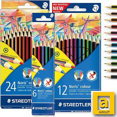 NEW Traditional Hexagonal Noris 24 Coloured Pencils Set