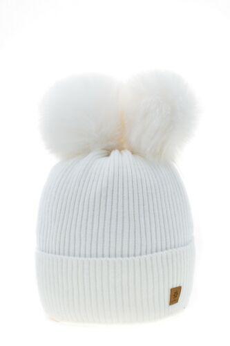 Kinder Wintermütze Mädchen Kinder Gestrickt Mädchen Hut Wurm Groß Pom Pom Perle