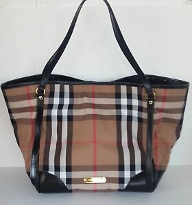 b86b59806ce Image is loading Burberry-Bridle-House-Check-Large-Canterbury-Tote-Black