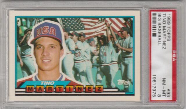 1989 Topps Big Tino Martinez Seattle Mariners 93 Baseball Card