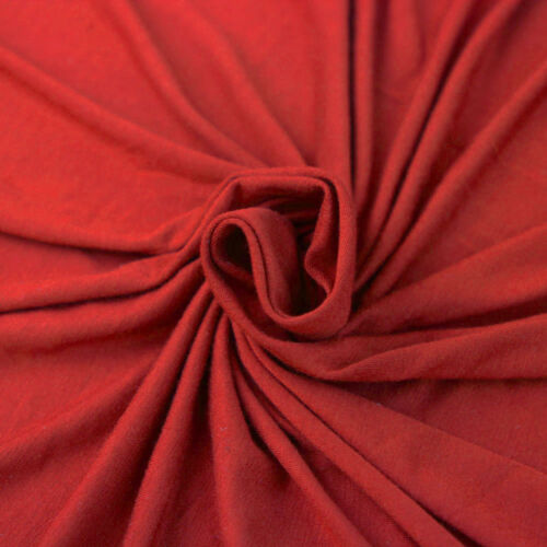90 Style 0406 Solid Heavyweight Rayon Spandex Jersey Knit Fabric 200 GSM