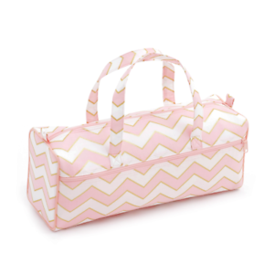 Hobby Gift 'Chevron: Pearlised Blush' Knitting Bag 15 x 45 x 17cm (d/w/h)