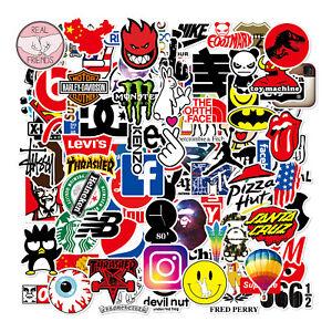 100pcs Skateboard Stickers Bomb Vinyl Laptop waterbottle Luggage Decals Dope