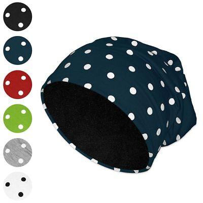 Beanie Punkte Viele Farben Polka Dots Gepunktet Rot Schwarz Weiß Blau Grün Grau