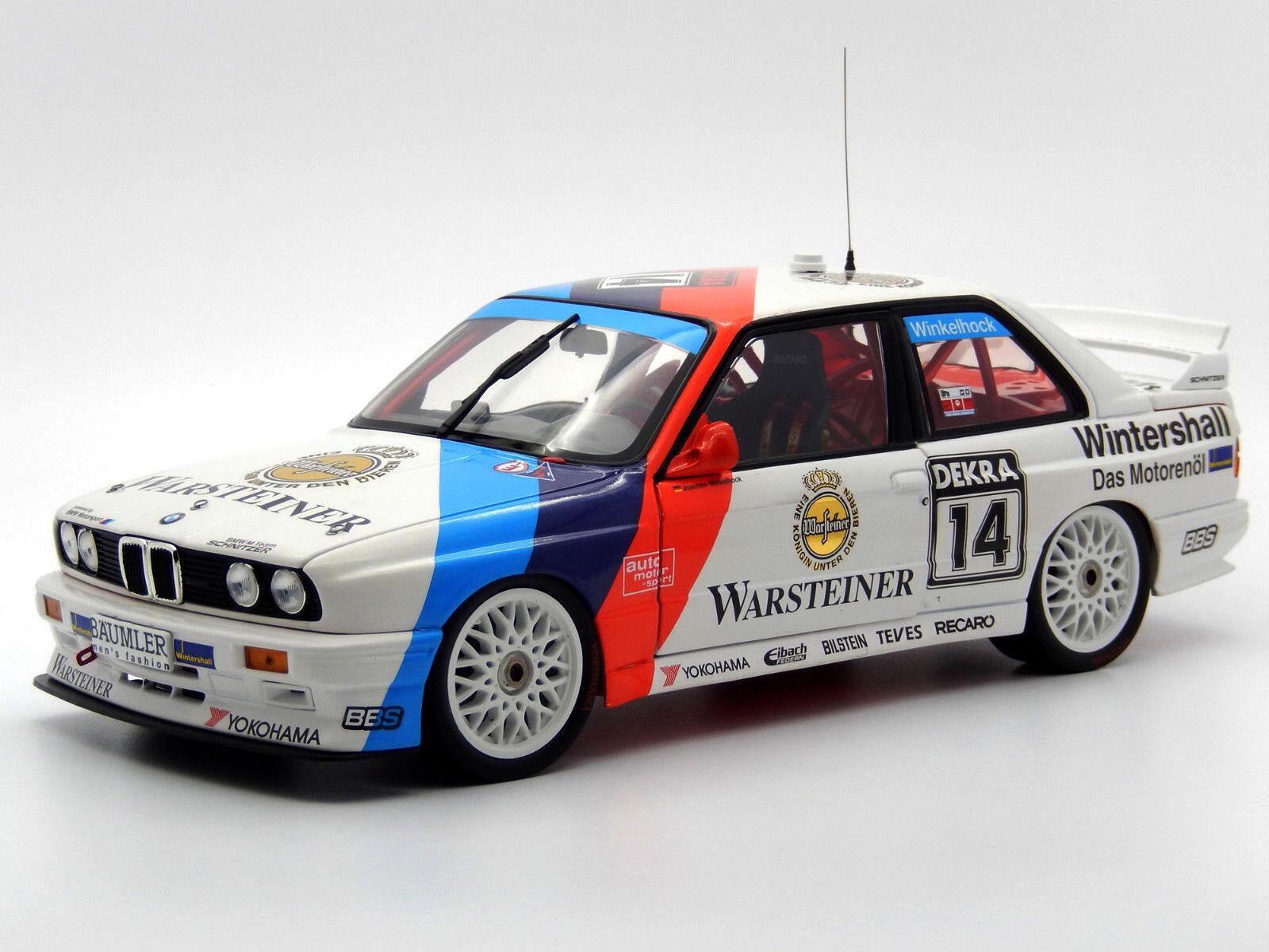 Échelle 1:18 1:18 1:18 BMW M3 E30 DTM 1992 Schnitzer winklehock minichamps diecast modèle RAR | De Nouveaux Produits 2019  | Moins Cher  c9f856