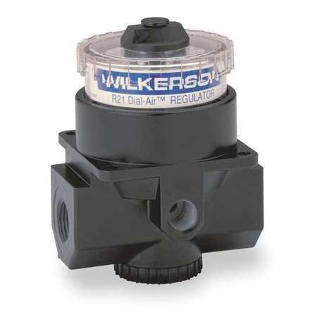 WILKERSON R21-02-000 Air Regulator,1//4 In NPT,117 cfm,300 psi