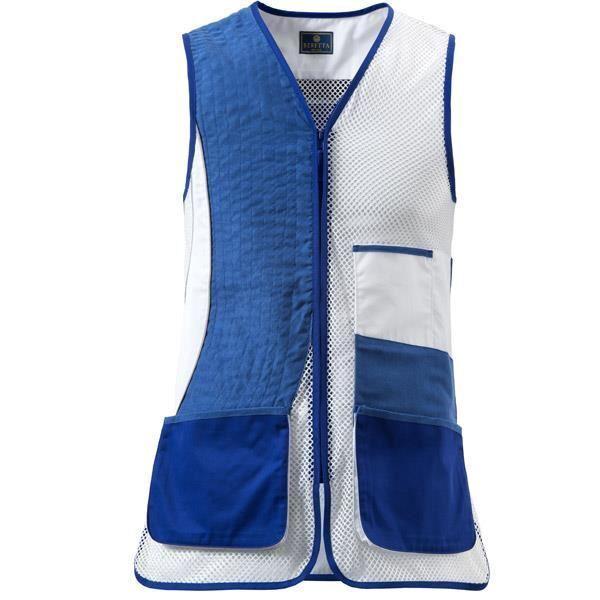 Beretta Trampa Chaleco No Olimpic Dx - Azul Beretta y blancoo