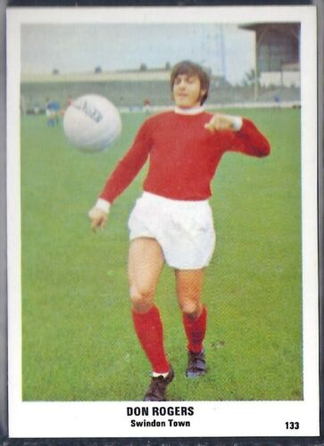 SUN-FOOTBALL SWAP CARDS M134 DON ROGERS -#133- SWINDON TOWN