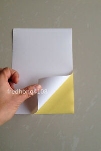 20pc sheet a5 printable self adhesive sticker glossy paper printer