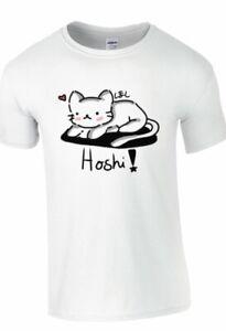 Japanese-Cute-Kawaii-Hoshi-Cat-Neko-T-shirt-Anime-Funny-Tokyo