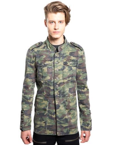 TRIPP MILITARY GOTH BAND ARMY GOTHIC JACKET COAT PUNK UNIFORM CAMO BD7368M