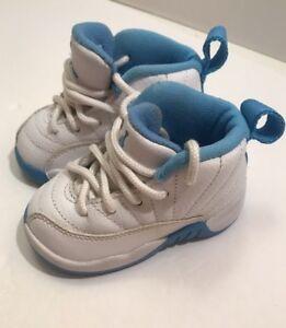 3bc6d0722673ae Image is loading Jordan-12-Retro-University-Blue-White-Infant-Shoes-