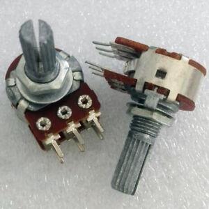 1pc-A-50K-6mm-Split-Shaft-Audio-Rotary-Potentiometer-Panel-Mount-Dual-Step-2x50k