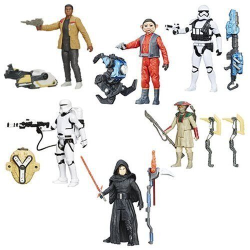 Star Wars The Force Awakens 3 3 4-Inch Snow and and and Desert Figures Wave 5 Set of 6 21a8a4