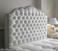 Amelia Chesterfield Curved Diamond Leather Floor Standing Headboard Uk Made