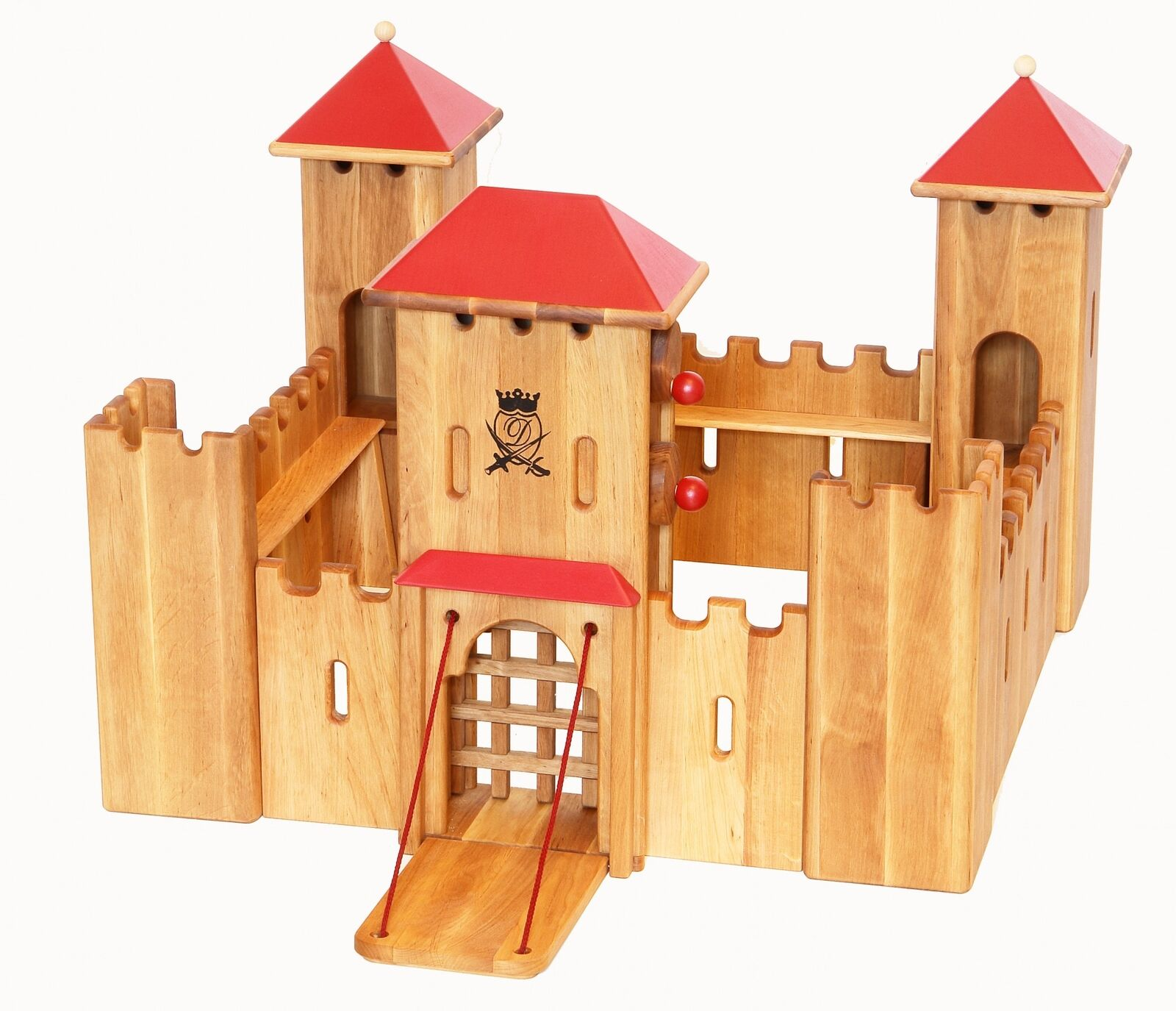 Castillo del caballero de madera spielwelt drewart ritterschloss maciza 931-140