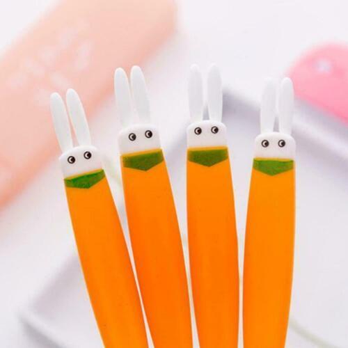 Creative Cartoon Soft Glue Head Carrot Neutral Cute Student Pen Supplies Ra I5W0