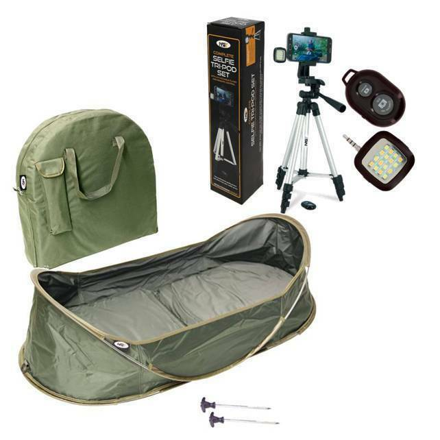 NGT POP UP CARP CRADLE  UNHOOKING MAT & ANGLERS PHOTO SELFIE TRIPOD SET