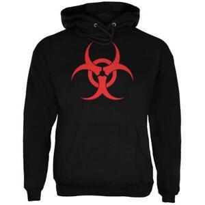 Zombie Biohazard Symbol Black Adult Hoodie
